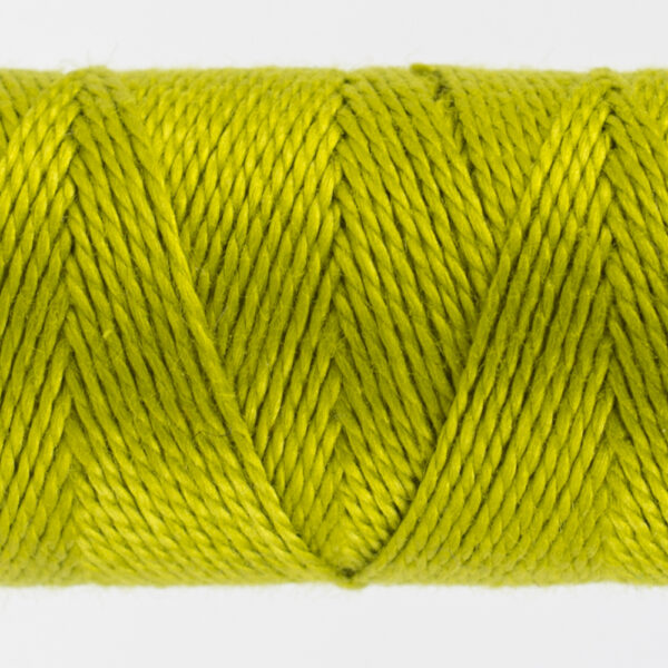 closeup of citrus perle cotton thread
