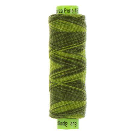 sue spargo eleganza perle cotton tree green colours
