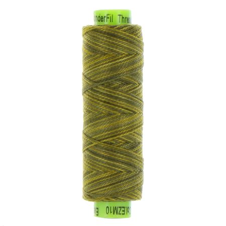 sue spargo eleganza variegated perle cotton olive green colours