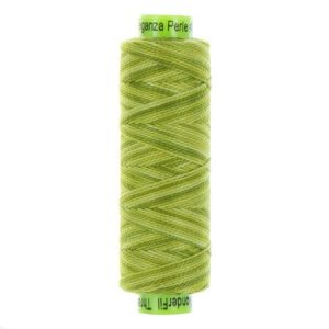 sue spargo eleganza variegated perle cotton inchworm green colours