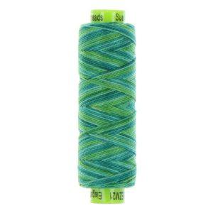 sue spargo eleganza perle cotton aqua green colours