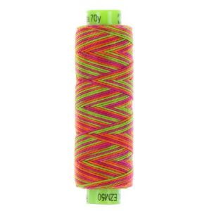 sue spargo eleganza variegated perle cotton thread pink lime orange