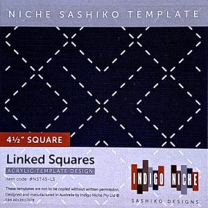 small linked squares sashiko template