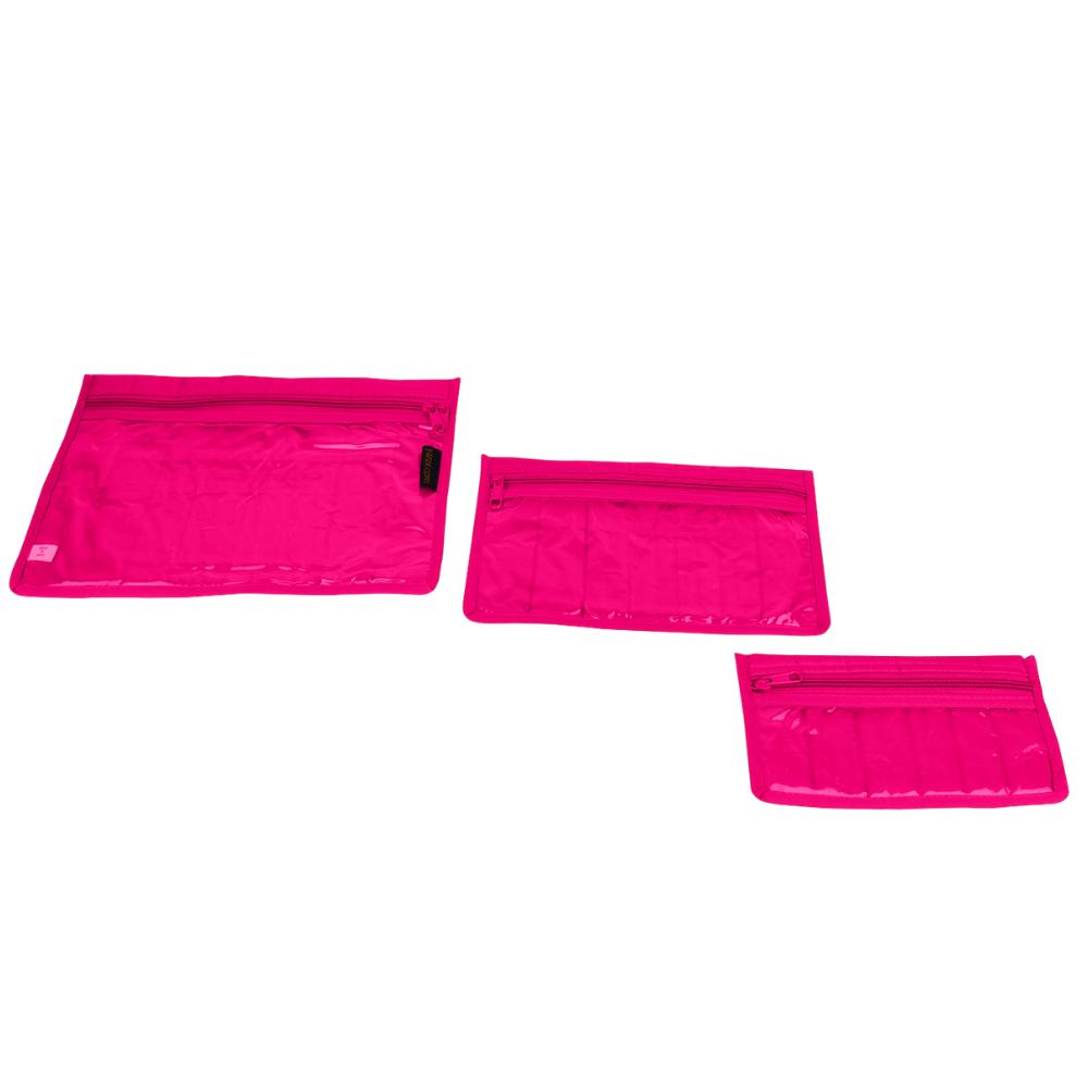 fuchsia craft notions pouch set