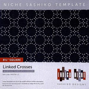 large linked crosses sashiko template