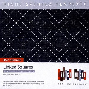 large linked squares sashiko template