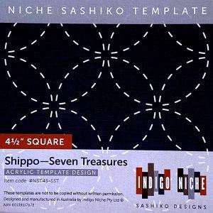 small shippo tsunagi sashiko template
