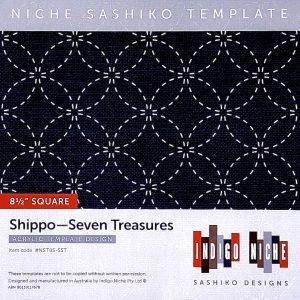 large shippo tsunagi sashiko template