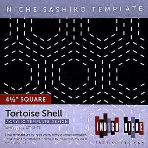 small tortoise shell kikko sashiko template
