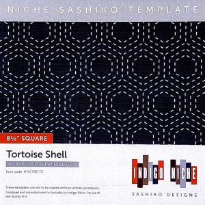 large tortoise shell kikko sashiko template